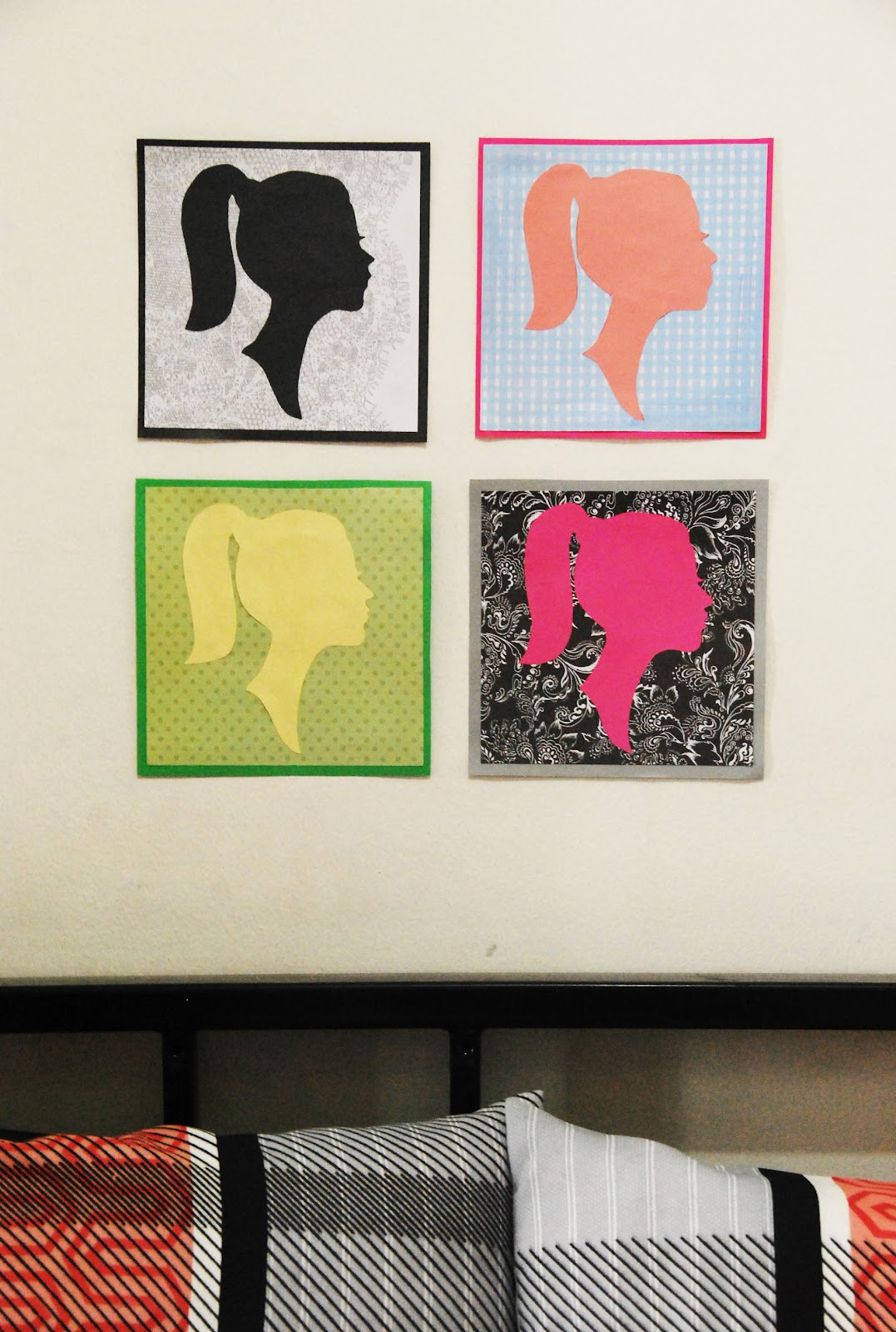 The Pink Doormat Paper Silhouette Artwork
