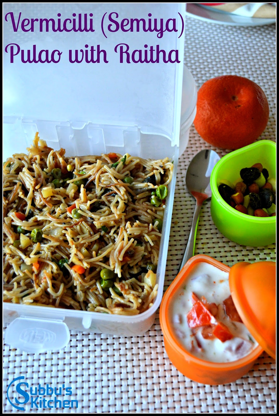 Vermicilli Pulao | Kids Lunchbox Recipes