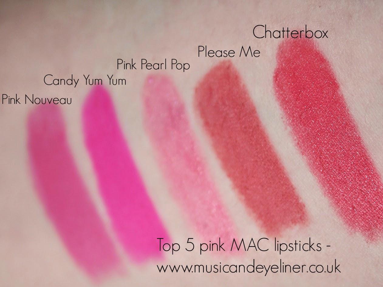 Top 5 pink MAC lipsticks