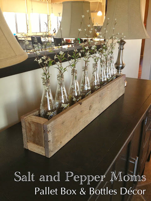 http://saltandpeppermoms.blogspot.com/2013/03/pallet-box-bottles-decor.html