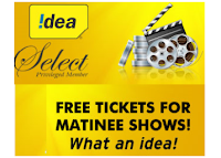 Get FREE 2 Movies Tickets Buy 1 Get 1 Free For Idea Customers :buytoearn
