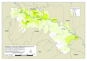 Mapa ha uva blanca DOCa Rioja