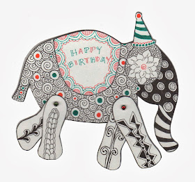 Tangle Your Own - Elephant Card