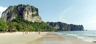 one of the beaches in Krabi