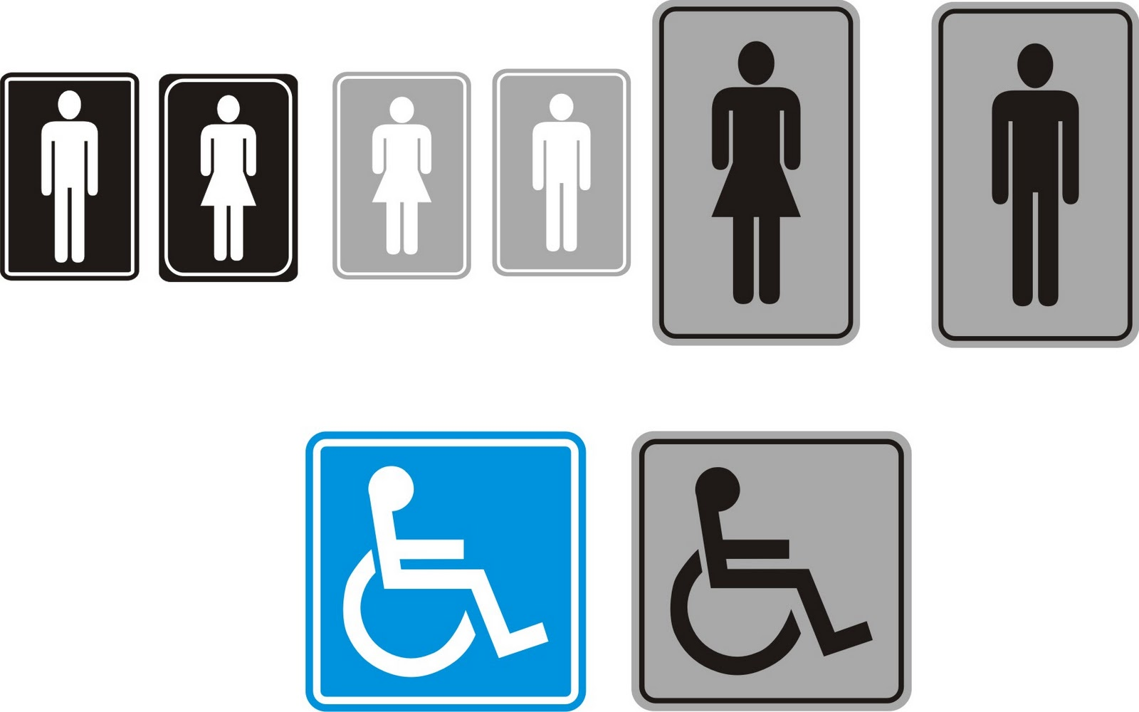 Designer.Adesivos: Placas de Banheiro e Cadeirante #0285C9 1600 1000