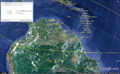 космическое фото Южной Америки, Колумбия, Венесуэла, острова Карибского бассейна в Гугл Земля, скриншот