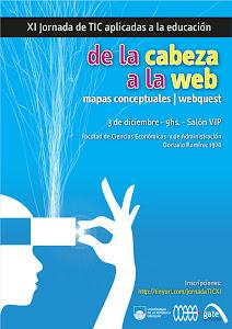 Afiche XI Jornada de TIC aplicadas a la educación para docentes de la FCEA