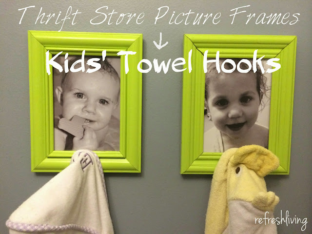 DIY kids' towel hooks