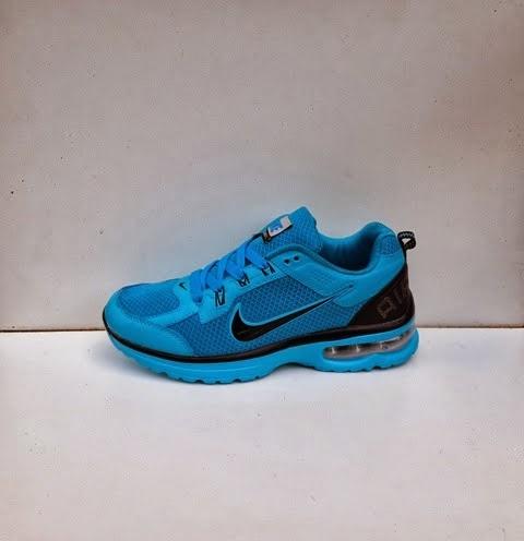 sepatu nike air max women biru hitam.