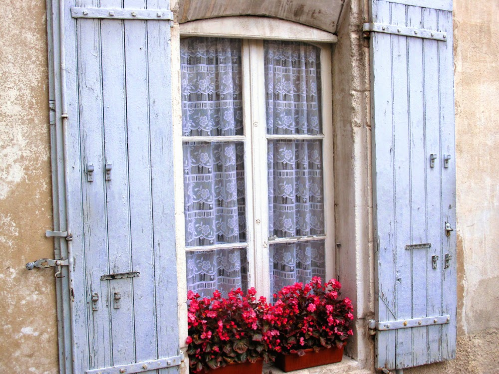 Shabby chic French shutters in Provence