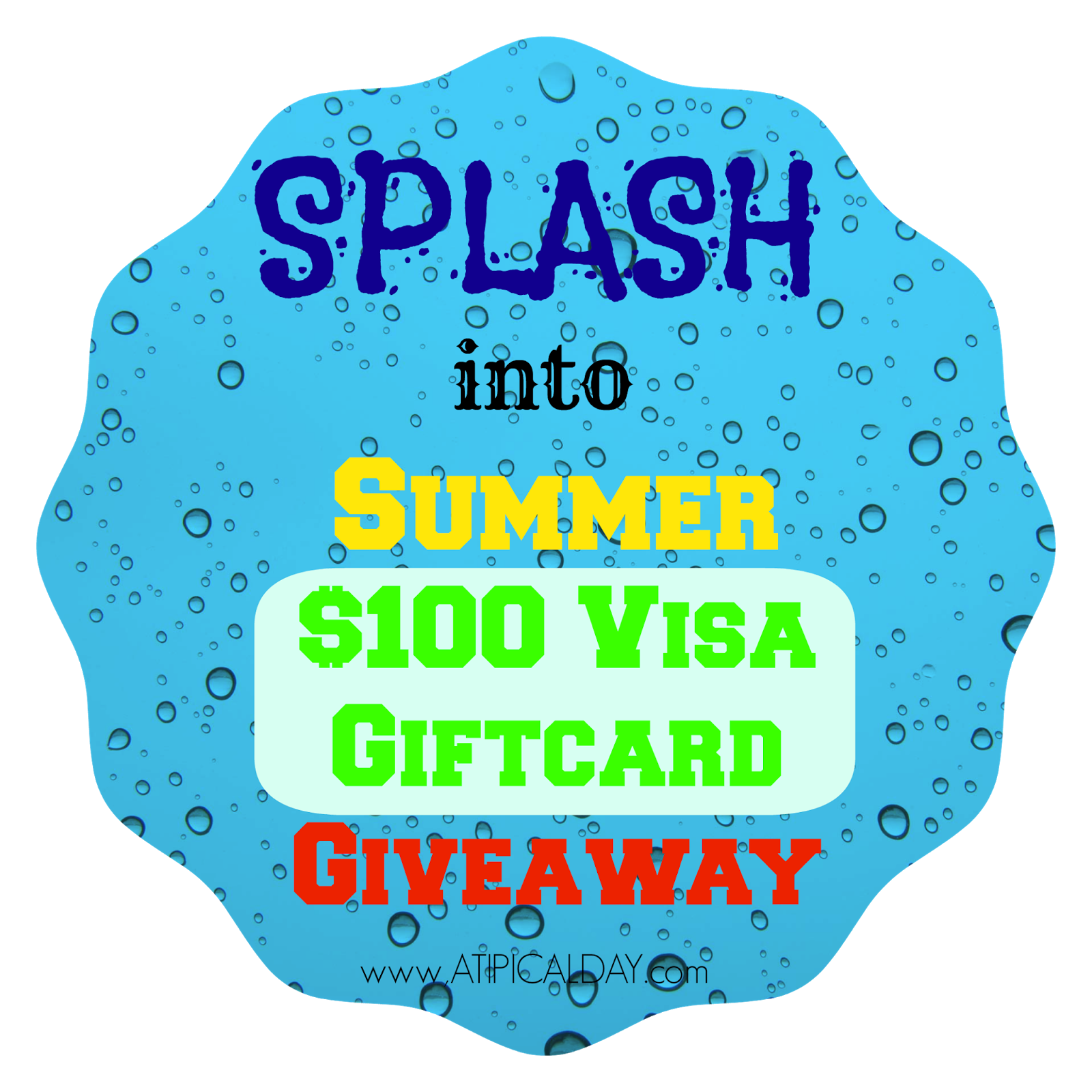 Splash into Summer $100 Visa Giftcard Giveaway @ATIPicalDay #giveaway #summerfun #waterplay #$100VisaGiftcard #watergames #waterplayideas