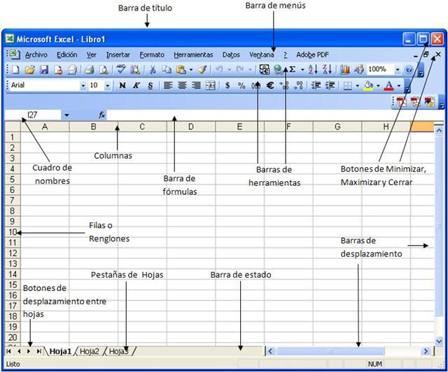 Barras de Menu de Excel Tenemos Barra de Menu