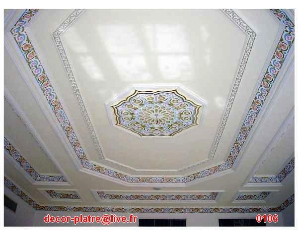 Marocain bedroom bathroom living kitchen for Decoration plafond platre marocain