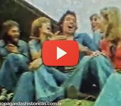 Campanha do Jeans USTOP com famosa canção que evocava a liberdade.