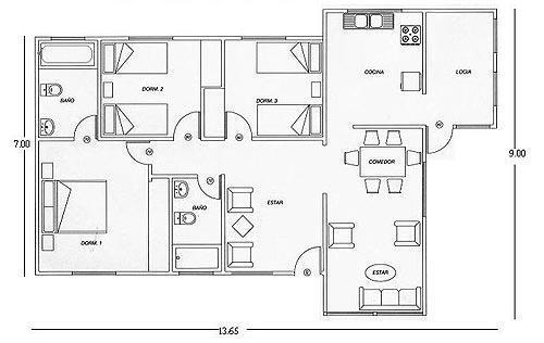Planos de Casas, Modelos y Diseños de Casas: Modelos de planos para ...