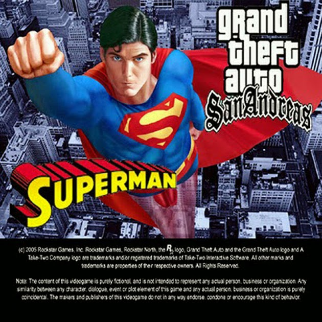 GTA San Andreas Superman Mod Game