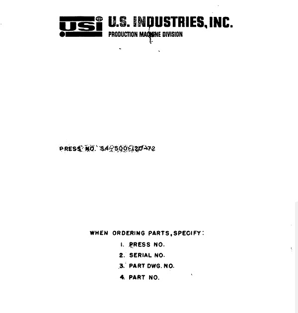 US-Industries-S4-500-120-72-Manual Raymond T Wiring Schematics on