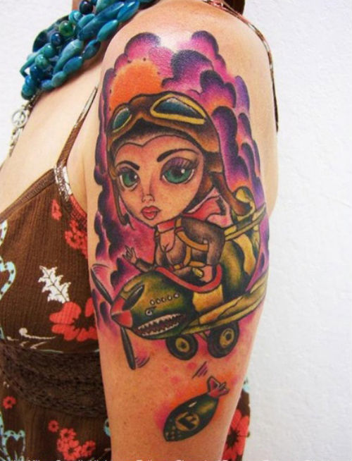 cartoon sleeve tattoos sleeve tattoos gallery. Black Bedroom Furniture Sets. Home Design Ideas
