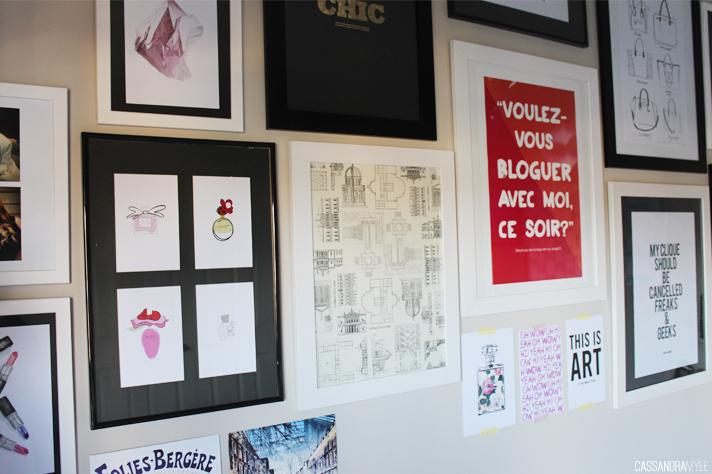 BEDROOM UPDATE // Mini Gallery Wall - cassandramyee