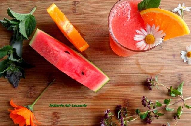 mięta, napój pomarańczowy, napój pomarańczowo arbuzowy, najlepszy napój dla dzieci, zdrowy napój dla dzieci, najlepszy napój na lato