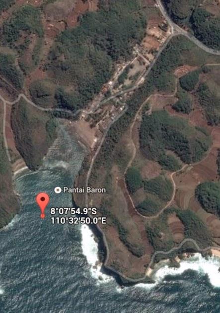 Koordinat Lokasi Pantai Baron_siparjo.com