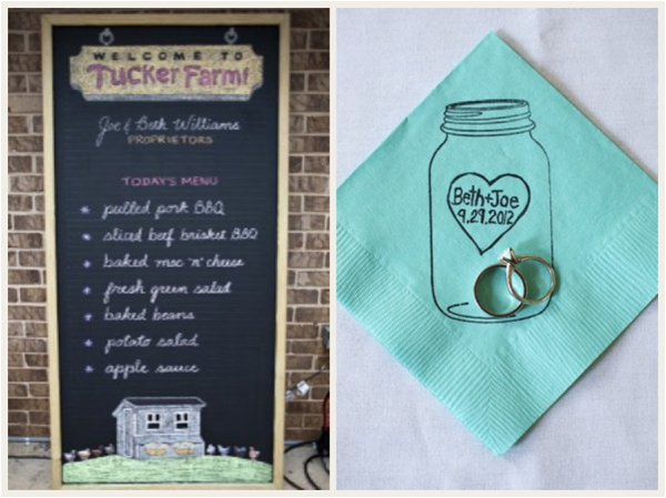 A Georgia Backyard Wedding via The Budget Savvy Bride