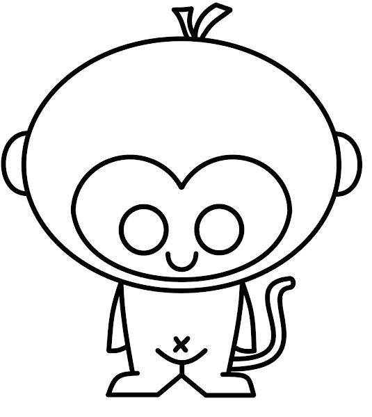 Cute Monkey Drawings Easy