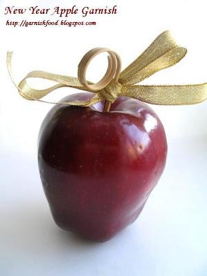 apple garnish new year style