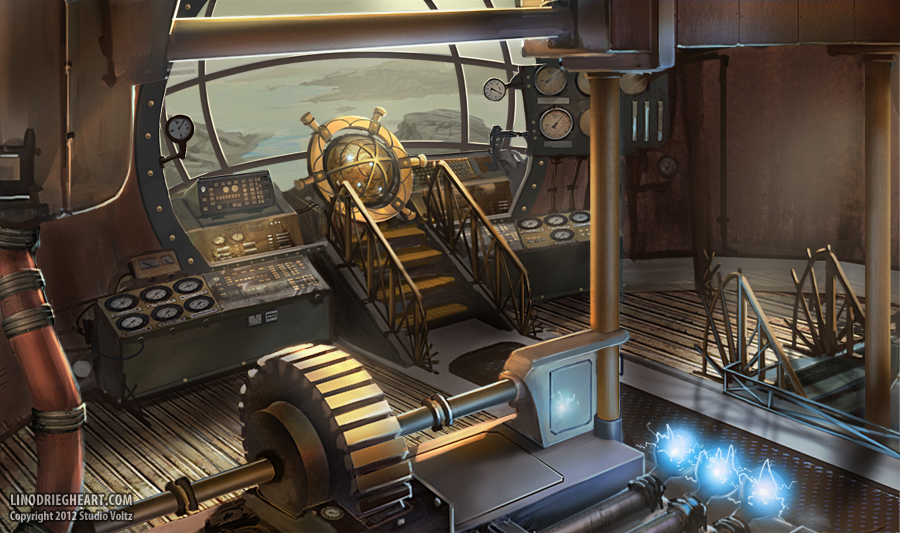 Steampunk Ship Interior