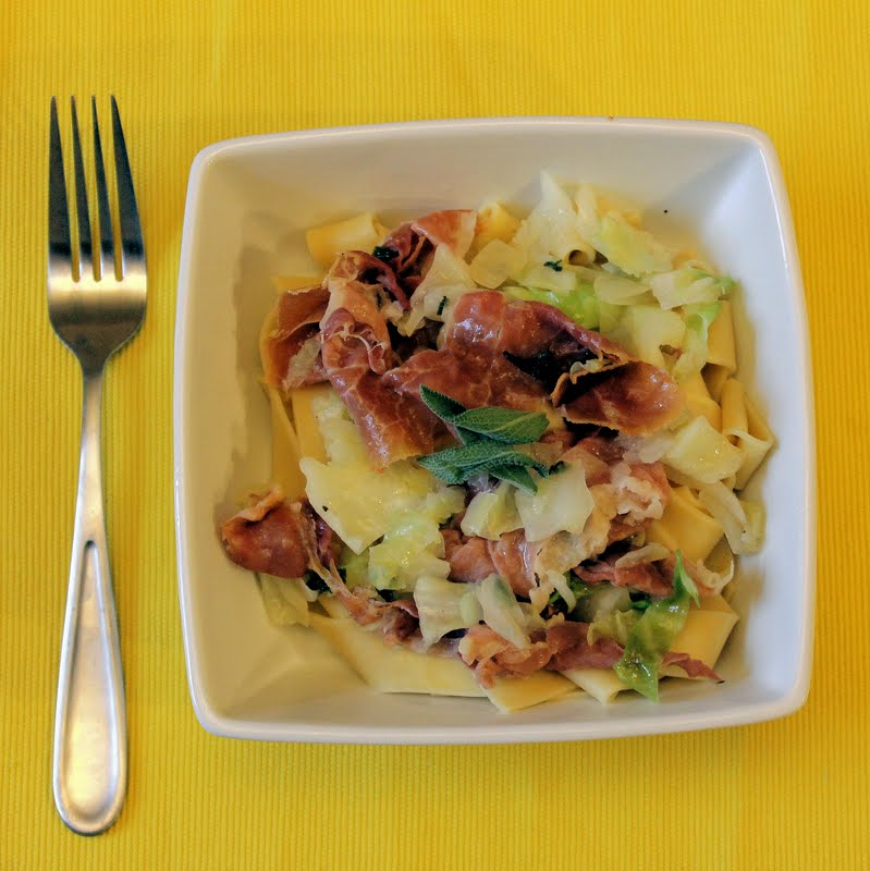 Pappardelle with Cabbage, Prosciutto and Sage | I Can Cook ...