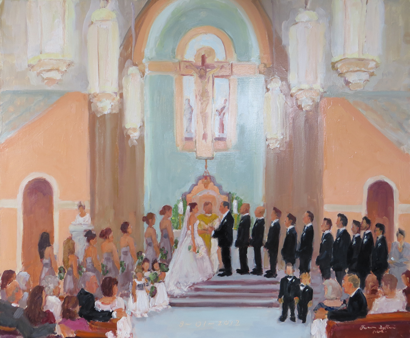 Live Event Painting Joan Zylkin Blogs Painting At A Wedding Ceremony In Lovely New Church In