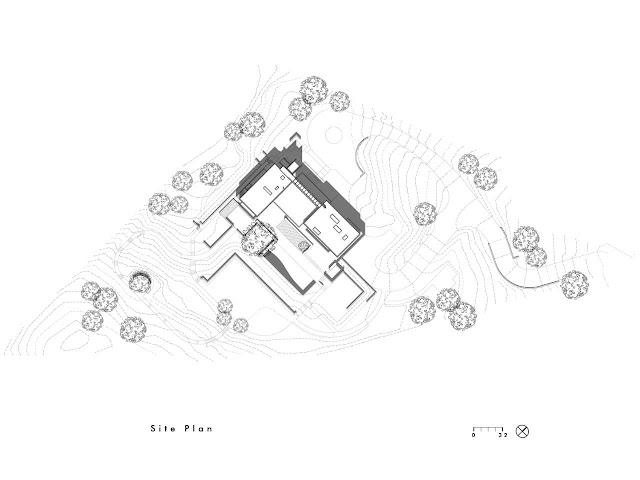 Site plan of the Oz House in Silicon Valley
