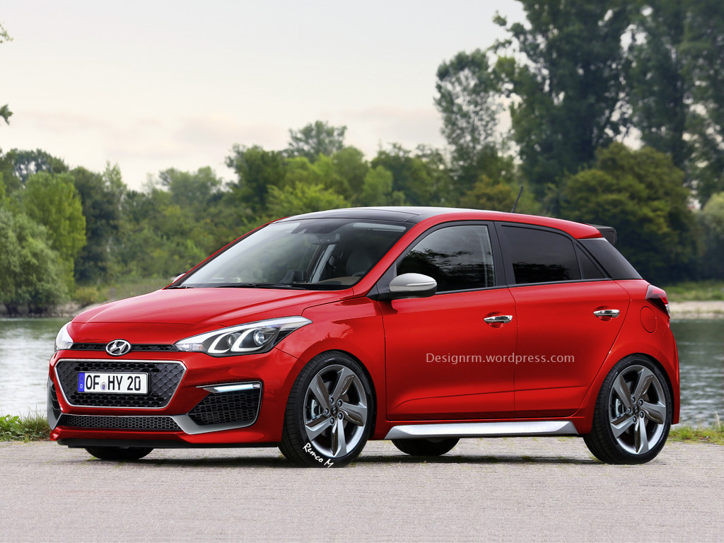 new hyundai i20 r spec hot hatch speculatively illustrated carscoops. Black Bedroom Furniture Sets. Home Design Ideas