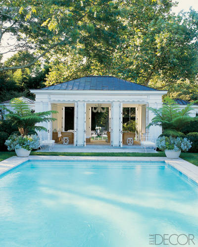 Hamptons panache the enchanted home for Pool design hamptons