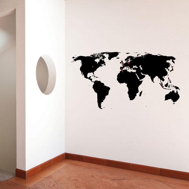 Vinilo,pared,Chispum,vinil,wall,mapa,mundi