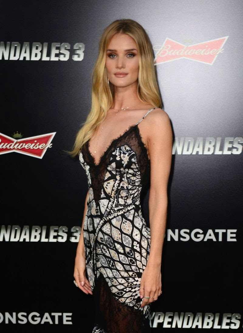Rosie Huntington Whiteley stuns in an Emilio Pucci slip dress at 'The Expendables 3' LA Premiere