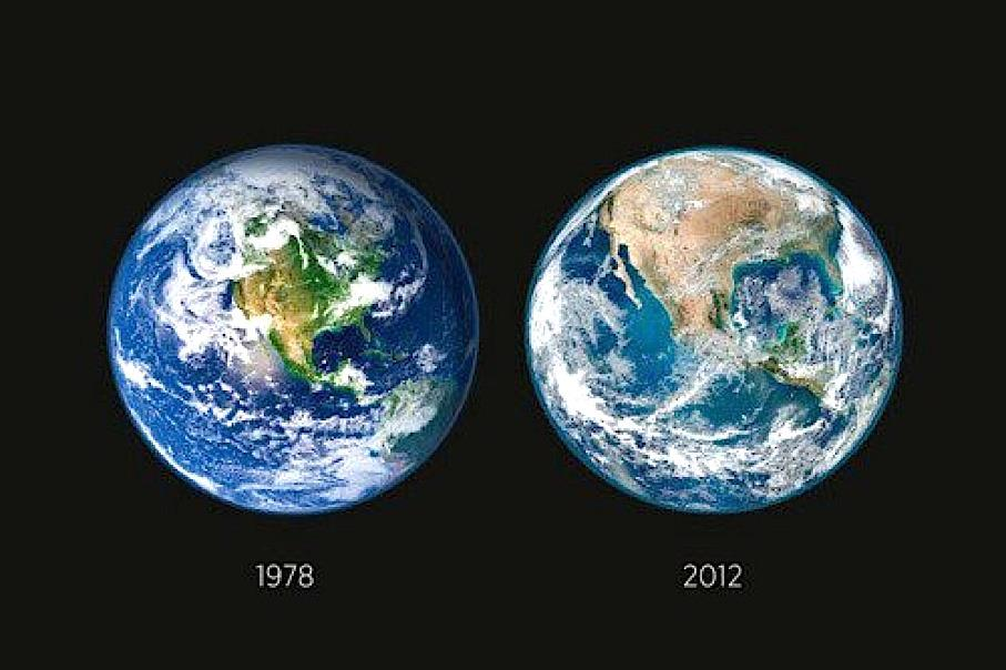 Planet Earth Then and Now