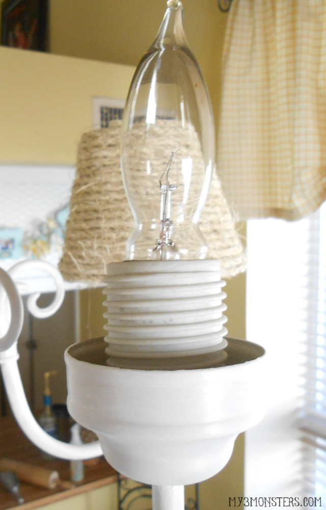 Beautiful From builder grade boring to beach cottage beautiful DIY Chandelier Makeover at