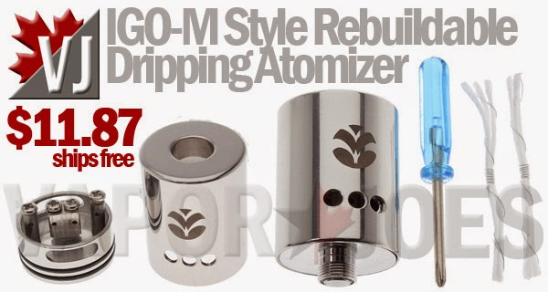 IGO-M Style Rebuildable Dripper with MASSIVE Airflow