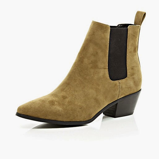 river island beige ankle boots