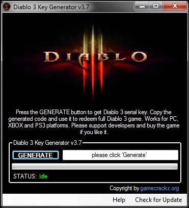 Diablo 3 Game Key Generator v3.7, Cracks, Serial Numbers, Patch, Key Tool,