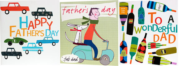 cars happy father's day dad and dog on scooter father's day bottles to a wonderful dad greeting cards father's day designers Liz and Pip Ltd