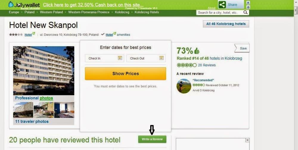 profil hotelu New Skanpol w tripadvisor