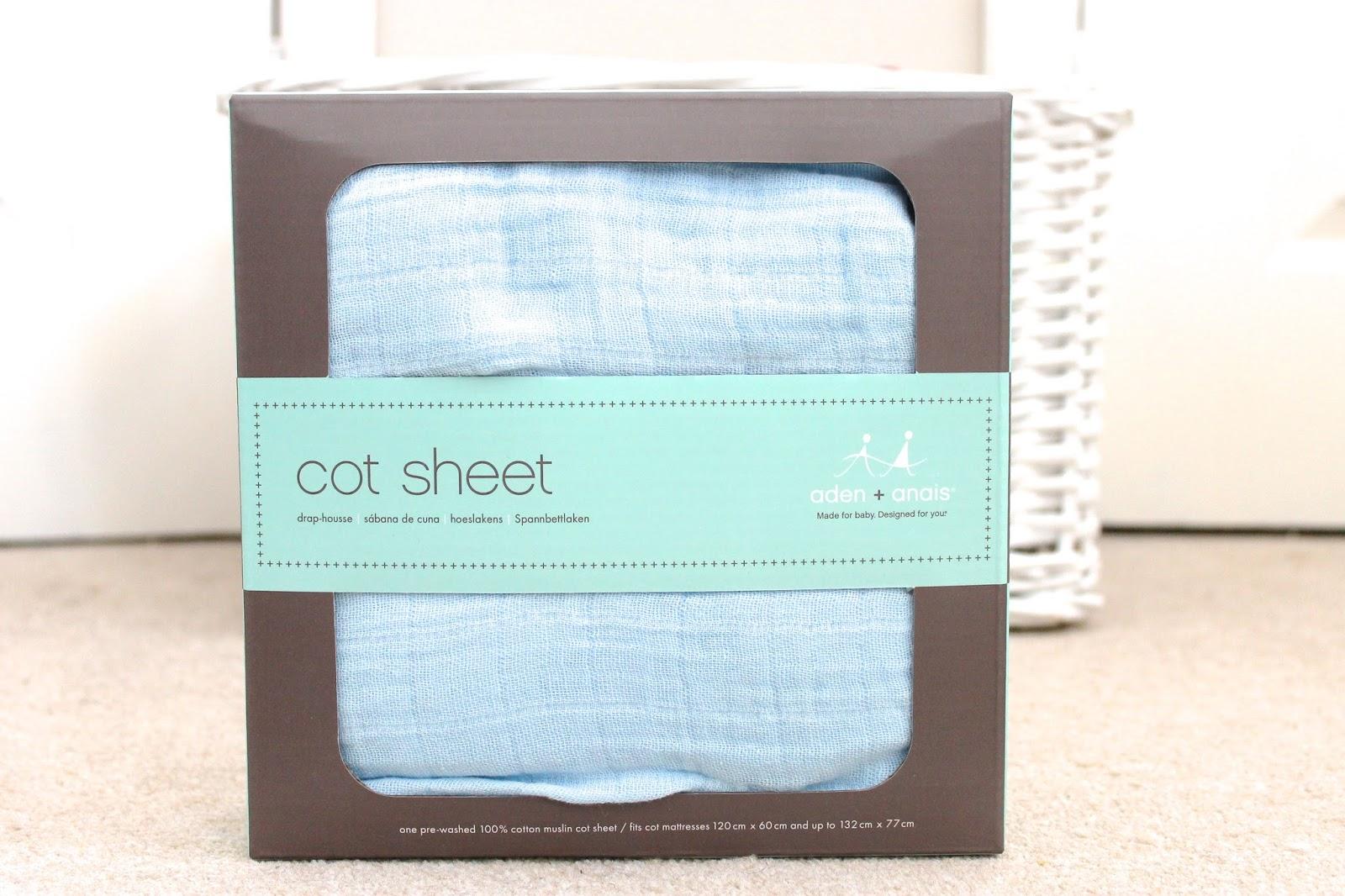 Aden + Anais cot sheet