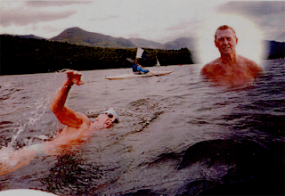 John's last swim in Coniston