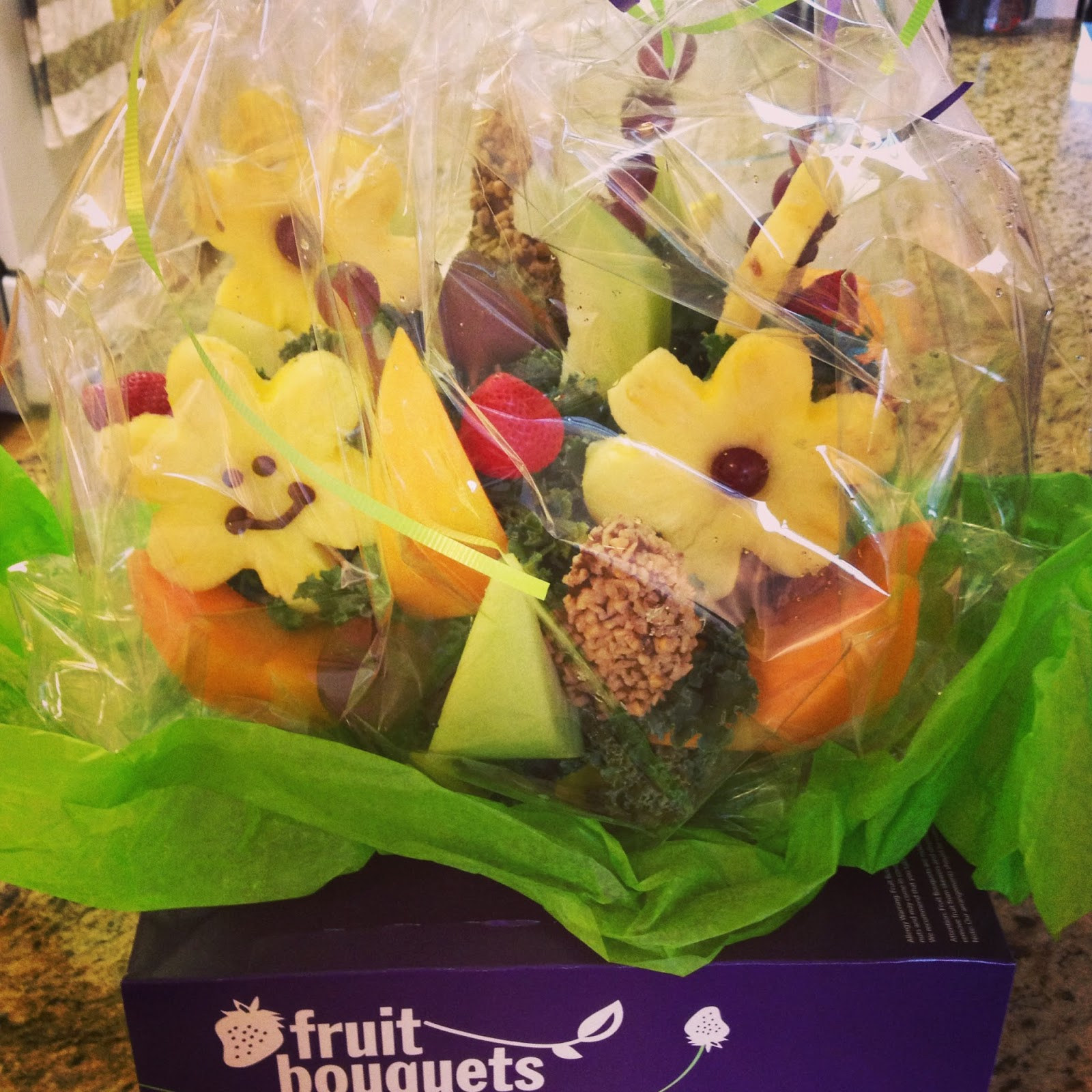 Why have fruit when you can have a fruit bouquet the Fruit bouquet