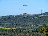 Vista de Castelladral i entorns des del Serrat de la Tropa