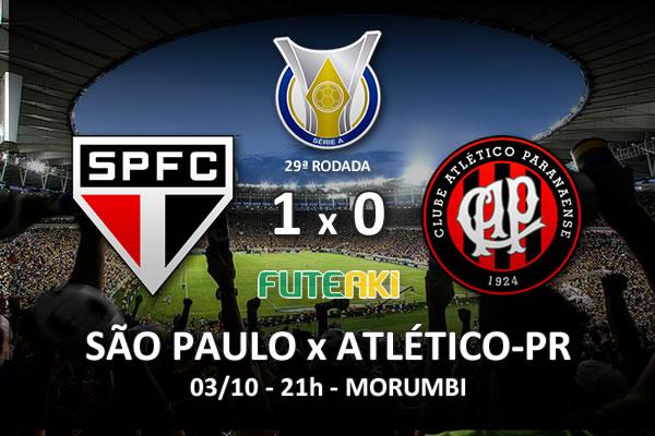 Veja o resumo da partida com o gol e os melhores momentos de São Paulo 1x0 Atlético-PR pela 29ª rodada do Brasileirão 2015.