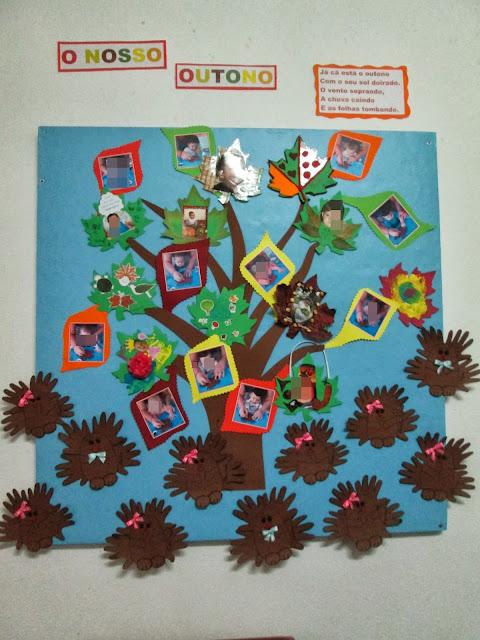 ideias para o outono jardim de infancia : ideias para o outono jardim de infancia:na decoração de uma folha para a nossa árvore de outono que ficou