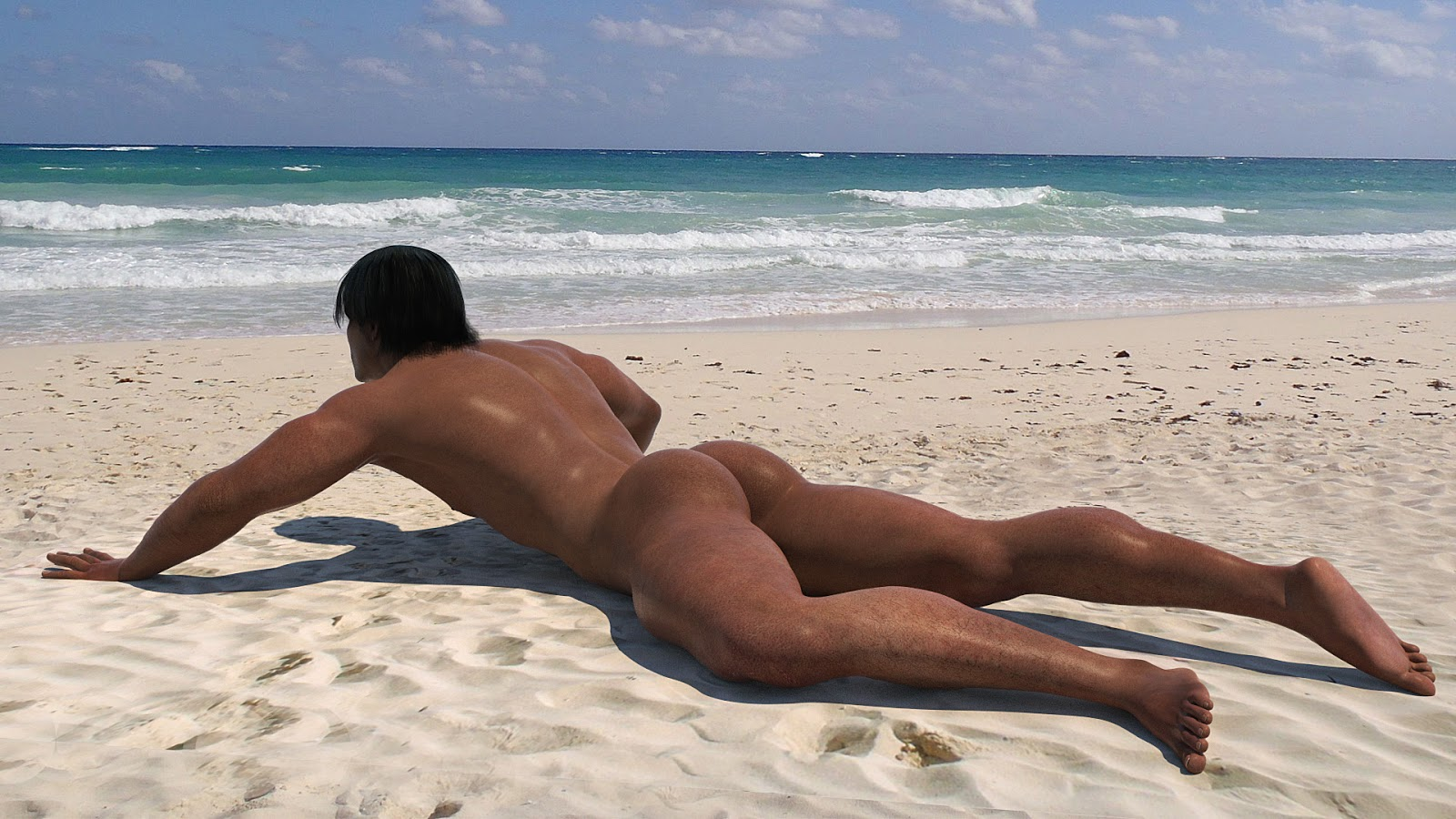 Naked Beach Hunks Nude